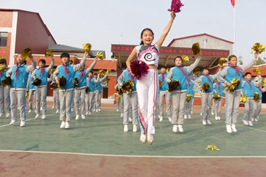 线上澳门赌博开户:中牟县城东路小学首届啦啦操联赛展示多彩校园文化