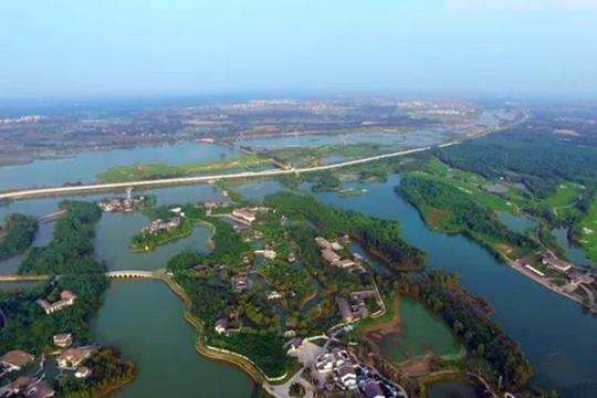 雁鸣湖生态水系