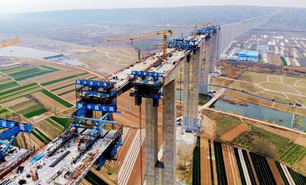 河南第一高橋——G310弘農澗河特大橋全面復工