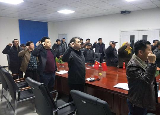 镇党委书记乔松伟参加潘店胡村党员活动日