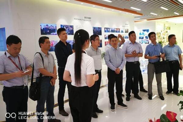 听取浙江传化集团智联党建信息化系统介绍