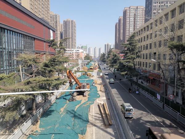 鄭州嵩山路、未來路都在施工,這是為啥?