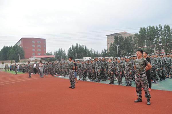 军训动员会队列