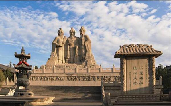 桃花峪三皇像