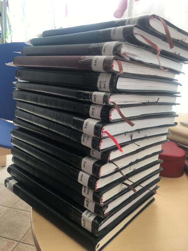 李庆军留下的19本日记