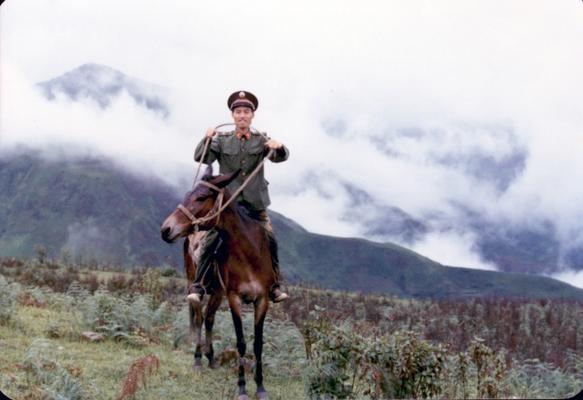 云南边防部队时的新闻干事蒋红升