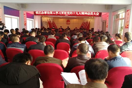 张庄办事处召开深入学习贯彻十九大精神动员会 (2)