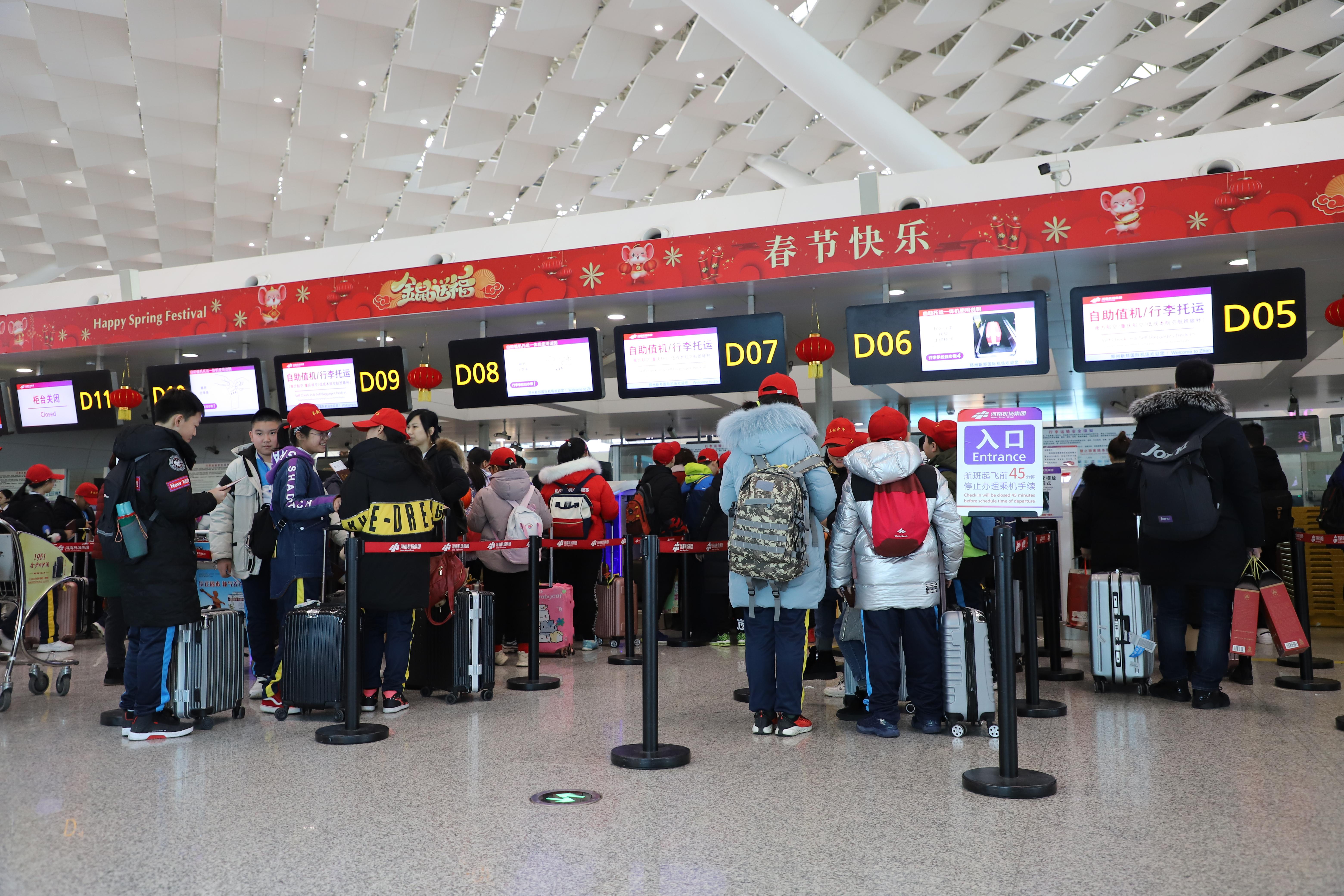 【暖暖春运路】郑州机场迎春运客流高峰,7天发送旅客61万人次