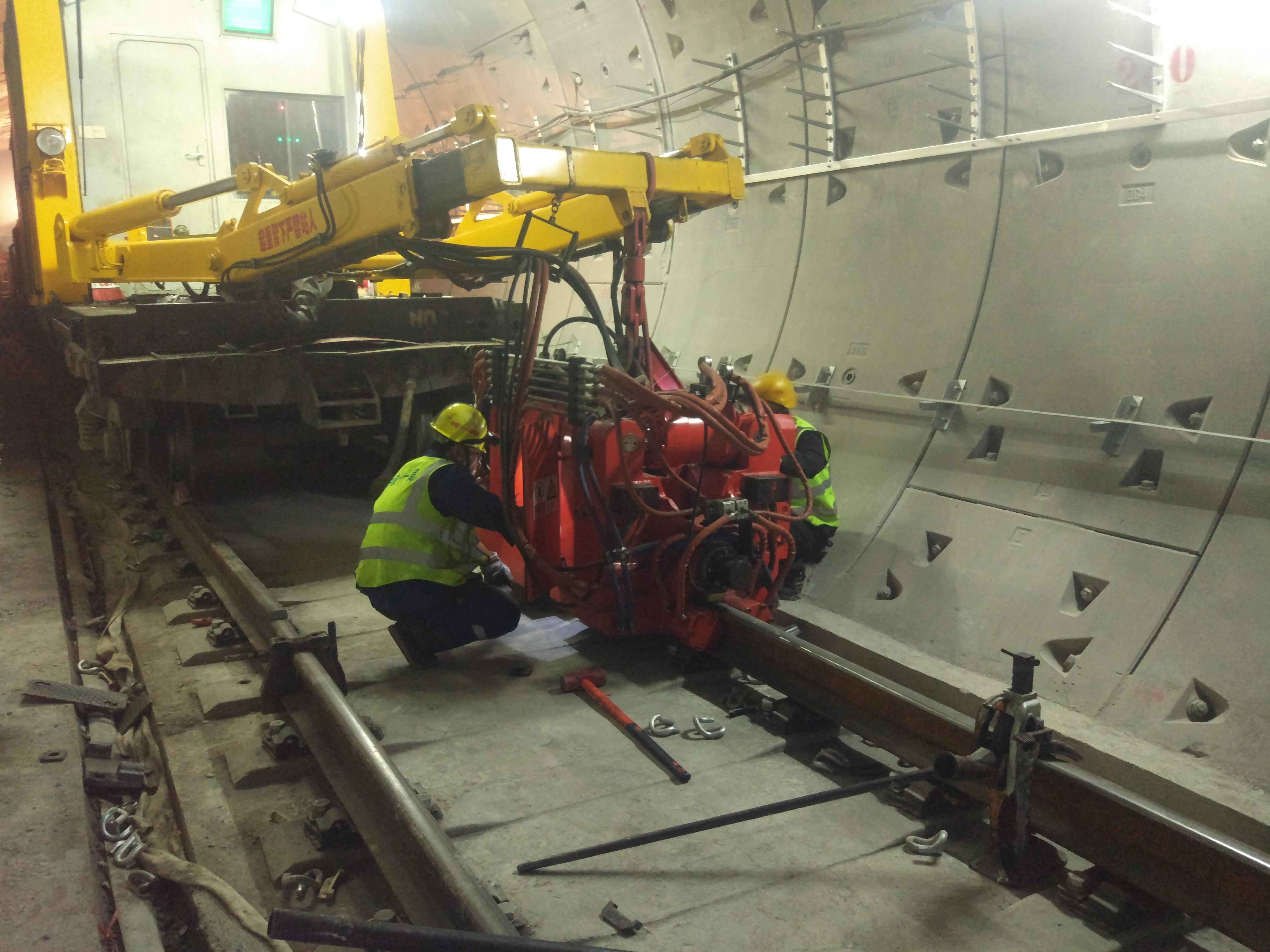 钢轨焊接前准备