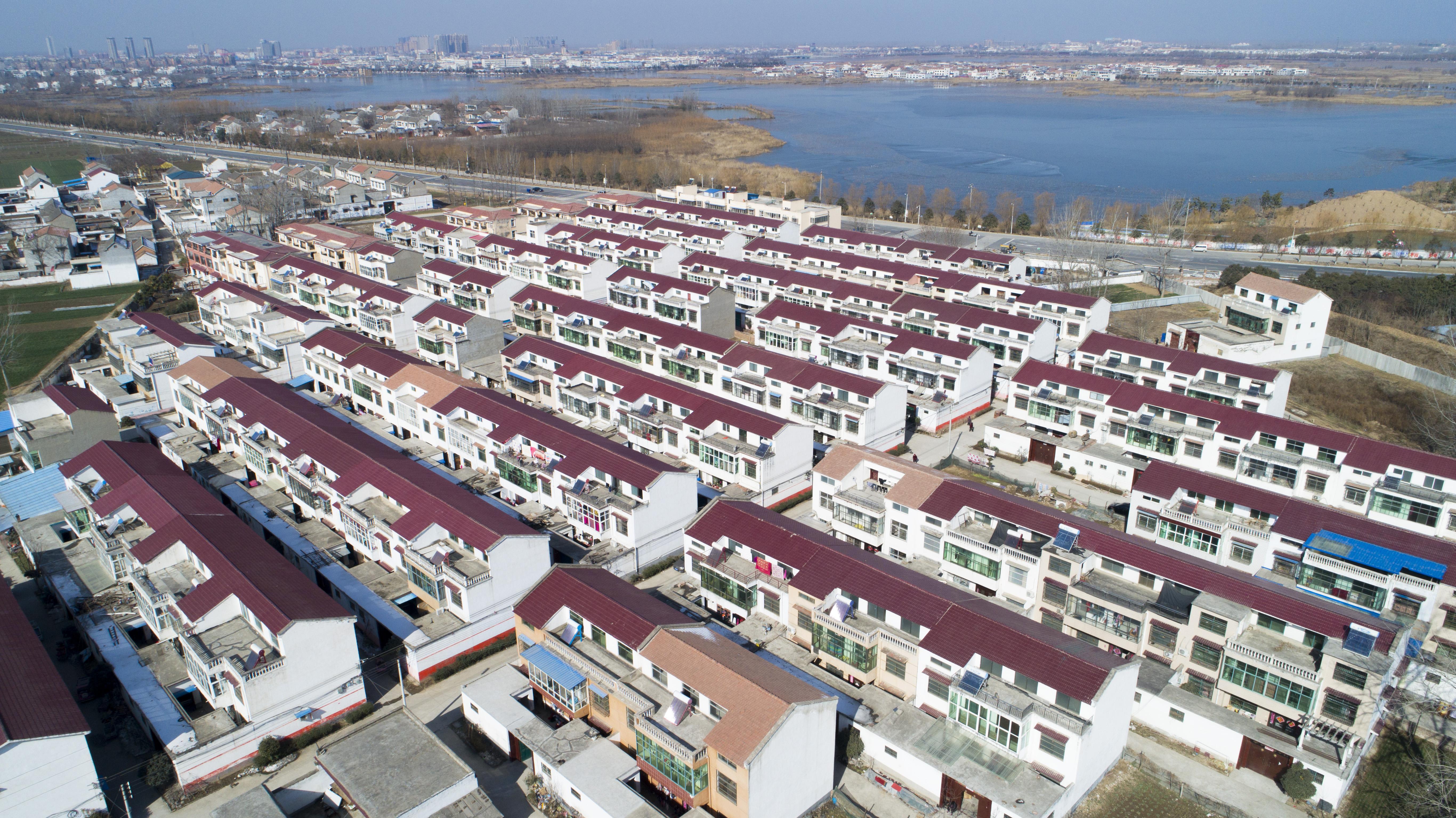 城关镇左庄新村面貌。   郑磊   摄